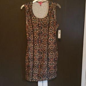 Multicolor snake skin pattern dress